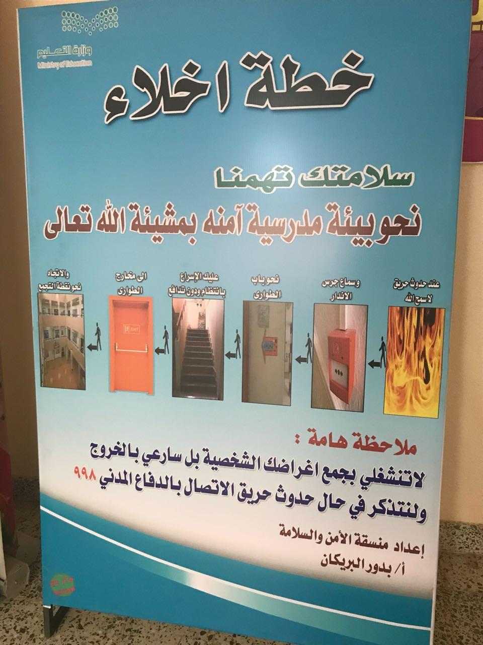 رداء روب الحد خريطة لوحات ارشادية للامن والسلامة داخل المدرسة Comertinsaat Com