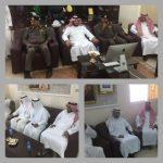 مدير عام التعليم و مدير إدارة الدفاع المدني يدشنان العيادة الصحية بثانوية الملك فهد