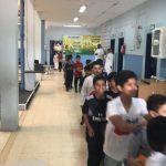 تنفيذ خطة الإخلاء في مدرسة ابتدائية الجاحظ بسكاكا