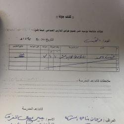 تنفيذ خطة إخلاء فرضية في متوسطة وثانوية تحفيظ القرآن الكريم بعرعر