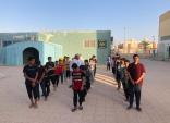 نادي الحي بثانوية ابن باز بتعليم الزلفي تنفذ فرضية إخلاء وهمي