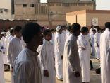 تعليم الاحساء : متوسطة الصالحية لللبنين بالهفوف تنفذ اذاعة صباحية تدريبية للأمن والسلامة