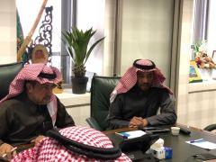سعادة المشرف العام على الأمن والسلامة المدرسية الدكتور ماجد الحربي يلتقي بوفد من الشركة السعودية للكهرباء