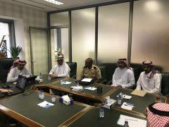 اجتماع منسوبي الإدارة العامة للأمن والسلامة بأعضاء الإدارة المركزية للأمن والسلامة بوزارة العدل