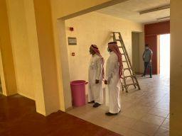 متابعة صيانة اجهزة وسائل السلامة في مدارس المجمعة