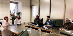 الجلسة الأولى عن طريق نظام لقاء للتدريب على نظام ساعات العمل الجديد لمتابعة الحراس