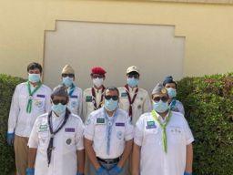 جهود كشافة وزارة التعليم للحد من انتشار فيروس كورونا  في إدارة تعليم حفرالباطن